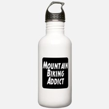 Mountain Biking Addict Water Bottle
