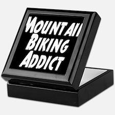 Mountain Biking Addict Keepsake Box