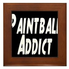 Paintball Addict Framed Tile