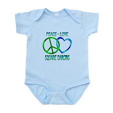 Peace Love Square Dancing Infant Bodysuit