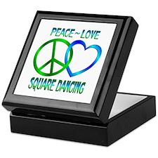 Peace Love Square Dancing Keepsake Box