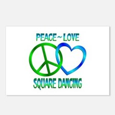 Peace Love Square Dancing Postcards (Package of 8)
