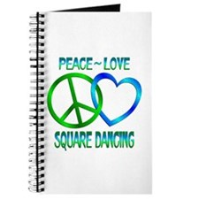 Peace Love Square Dancing Journal