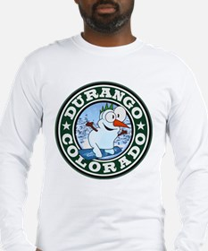 Durango Snowman Circle Long Sleeve T-Shirt