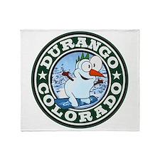 Durango Snowman Circle Throw Blanket