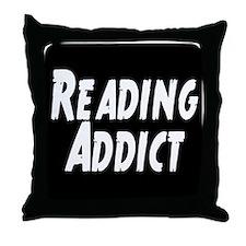 Reading addict Throw Pillow