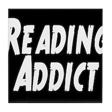 Reading addict Tile Coaster