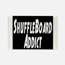 Shuffleboard Addict Rectangle Magnet