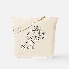 iRock Stick Man singing Mic Microphone Tote Bag