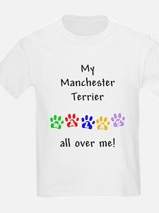 Manchester Terrier Walks Kids T-Shirt