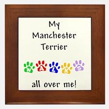 Manchester Terrier Walks Framed Tile