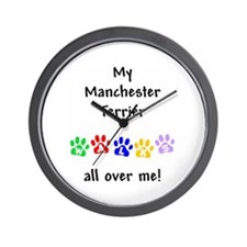 Manchester Terrier Walks Wall Clock