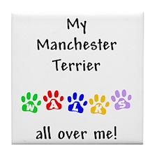 Manchester Terrier Walks Tile Coaster