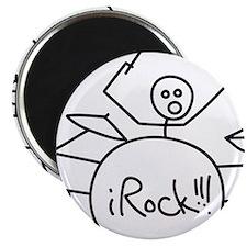 """iRock Stick Man Playing Drums 2.25"""" Magnet (100 pa"""