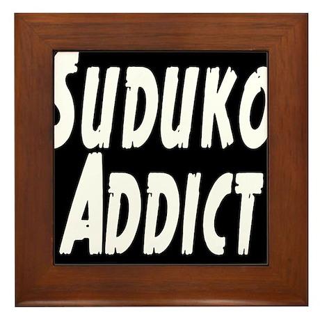 Suduko addict Framed Tile