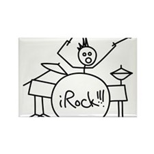 iRock Stick Man Playing Drums with Spiked Hair Rec