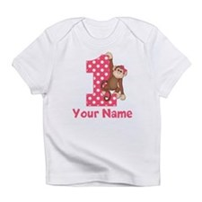 First Birthday Girl Monkey Infant T-Shirt