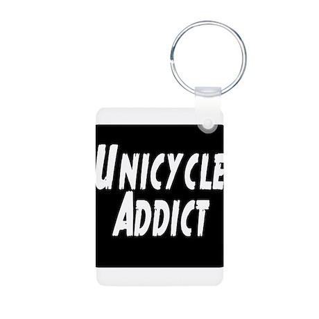 Unicycle Addict Aluminum Photo Keychain