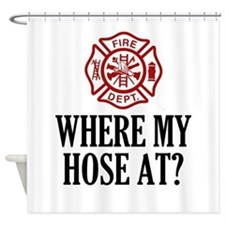Where My Hose At? Shower Curtain