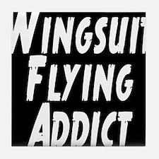 Wingsuit flying addict Tile Coaster