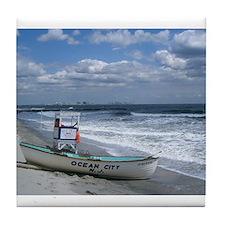 Ocean City, NJ Lifeguard Tile Coaster