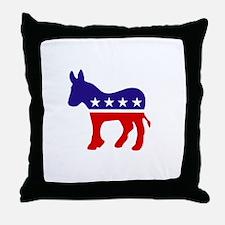 Democrat Donkey.png Throw Pillow