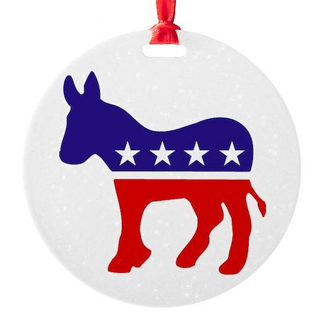 Democrat Donkey.png Round Ornament