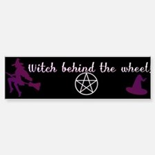 Witch behind the wheel Bumper Bumper Sticker