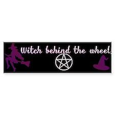 Witch behind the wheel Bumper Sticker