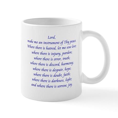 St Francis Prayer Mug