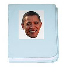 Obama Head baby blanket