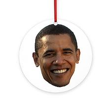 Obama Head Ornament (Round)