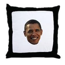 Obama Head Throw Pillow