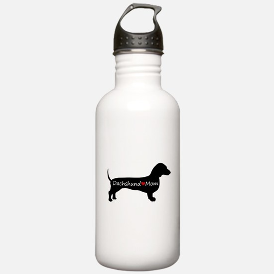 Dachshund Mom Sports Water Bottle