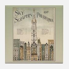 Skyscrapers Of Philadelphia Tile Coaster