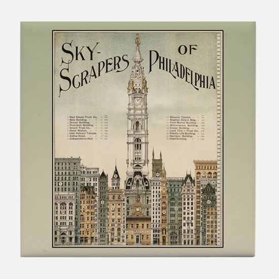Skyscrapers Of Philadelphia Tile Coaster