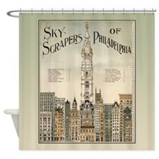 Skyscrapers Of Philadelphia Shower Curtain