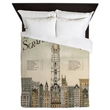 Skyscrapers Of Philadelphia Queen Duvet
