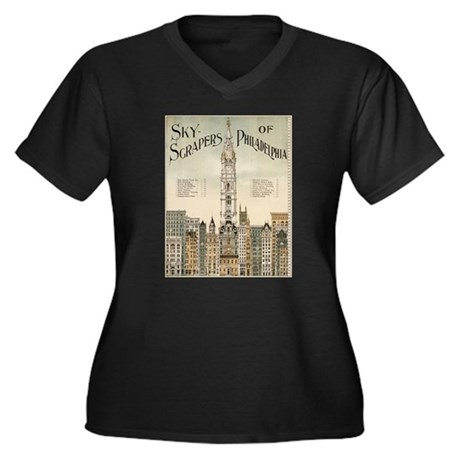 Skyscrapers Of Philadelphia Women's Plus Size V-Ne