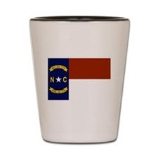 North Carolina State Flag Shot Glass