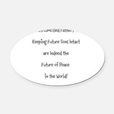 Cute Intact Oval Car Magnet