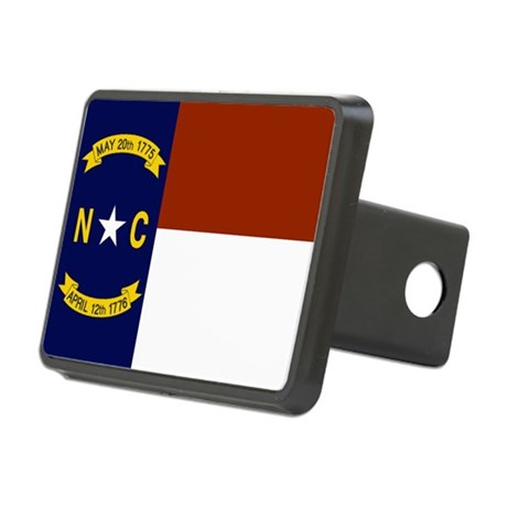 North Carolina State Flag Rectangular Hitch Cover