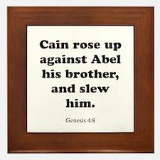 Genesis 4:8 Framed Tile