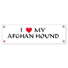 Afghan Hound Bumper Bumper Sticker