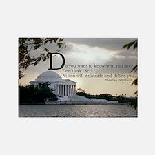 Thomas Jefferson wisdom Rectangle Magnet