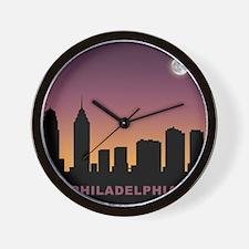 Philadelphia Afterglow Wall Clock