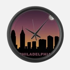 Philadelphia Afterglow Large Wall Clock