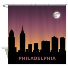 Philadelphia Afterglow Shower Curtain