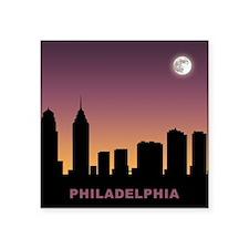 "Philadelphia Afterglow Square Sticker 3"" x 3"""
