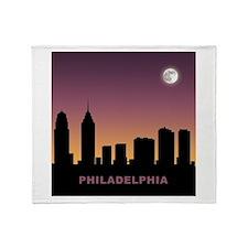 Philadelphia Afterglow Throw Blanket